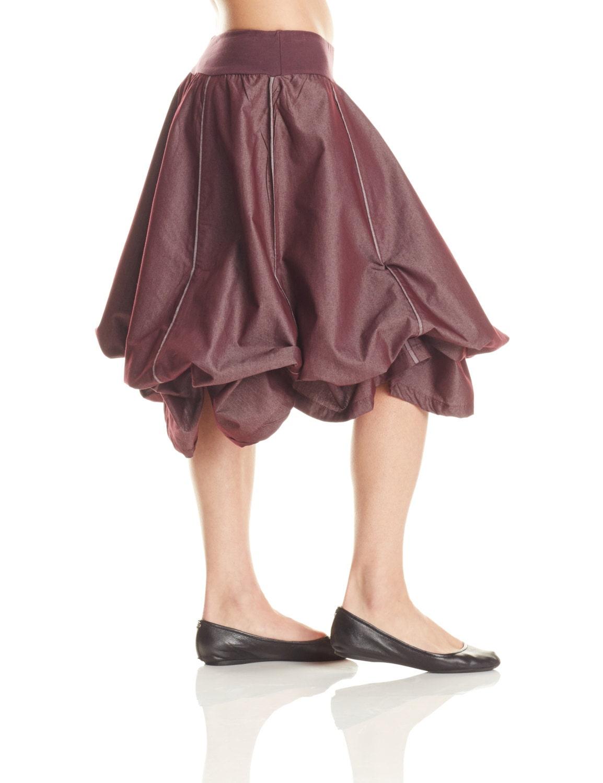 Denim Balloon Skirt M124 long skirt bubble skirt by ...