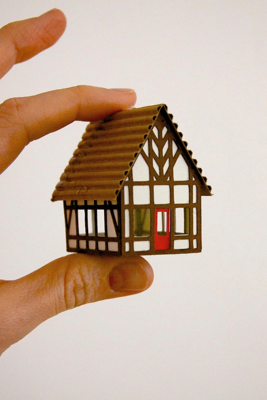 Tudor House Christmas Ornament Or Putz House