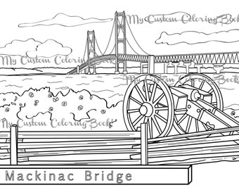 garden state parkway sign coloring pages | Michigan State Symbol Coloring Page Download