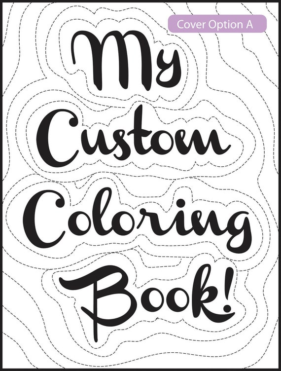 Items similar to 3 Page- Make Your Own Custom Coloring ...