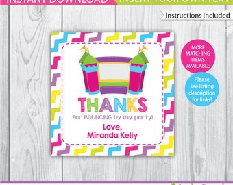 Bounce House favor tags / Bounce House gift tags / Bounce House Decoration / Bounce House Labels / Bounce House Printable INSTANT