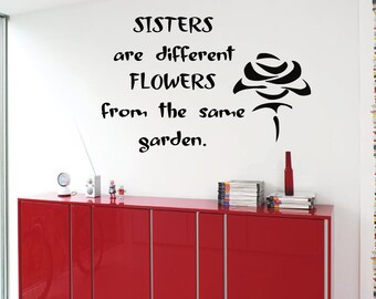 Vinyl Quote Sister Wall Decal Etsy