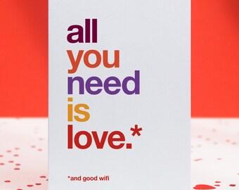 Funny Valentines Card AntiValentines Girlfriend