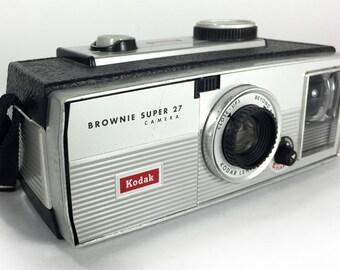 Retro 1960's Kodak Brownie Super 27 Camera – Home Decor Display & Collector Piece