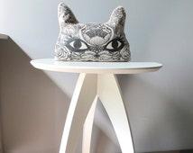 Air Freshener Pillow / Linen Cat Pillow / Home Décor Aromatherapy Pillow / Unique Design Decorative Pillow / Scented Pillow / Gift Idea