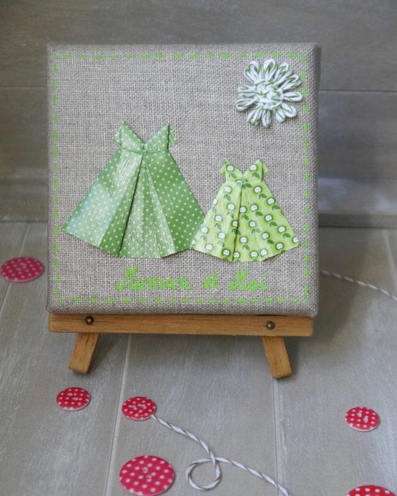 Maison Contemporaine Bois Bretagne : Items similar to Cadre en origami avec robes  décoration de chambre