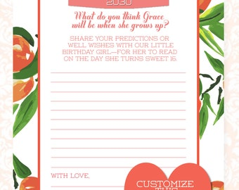Georgia Peach Time Capsule, First Birthday Time Capsule, Peach Party, Peachy, You're a Peach, Peach Birthday, First Birthday, Birthday Game