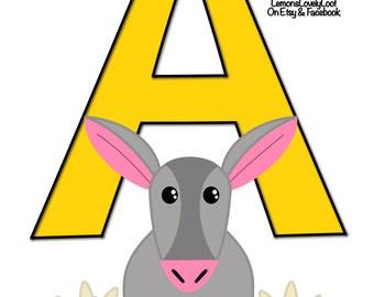 Animal Alphabet Print  A5 (Letters A-Z)
