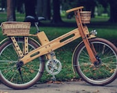Unique handmade wooden bicycle