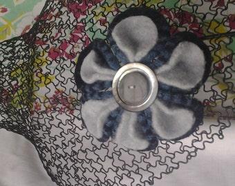 Felted Wool Flower Pin Brooch Handmade of Felted Wool Sweaters