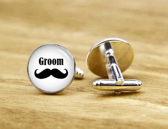 Groom Cufflinks, beard cufflinks, wedding accessories, custom wedding  cufflinks, round glass, square cufflink, tie clip or a matching set