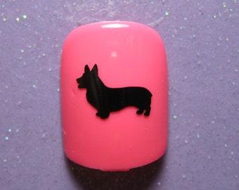 Corgi vinyl nail decals stickers