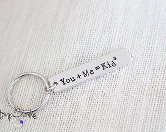 Mom or Dad Keychain - Engraved Jewelry - Custom Engraving