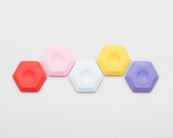 Hexagon Eraser — Thermoplastic Geometric Eraser