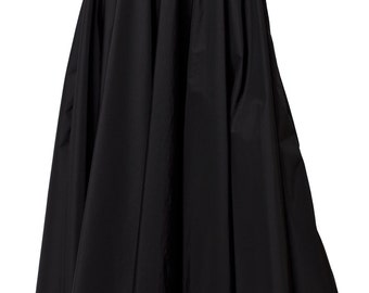 Monochrome Maxi Skirt / Oversize Long Skirt / High Waisted A