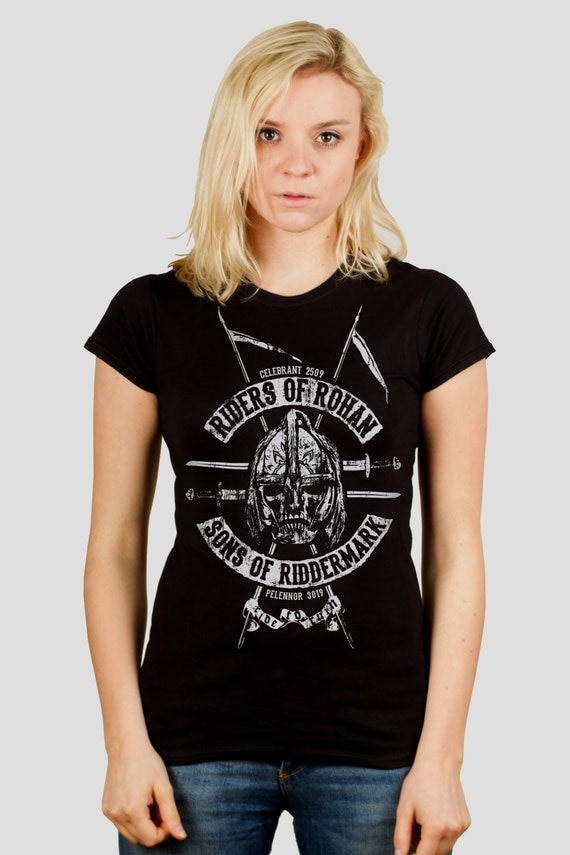 Riders of Rohan - Tolkien / Lord of the Rings inspired Ladies t-shirt, screen printed by hand