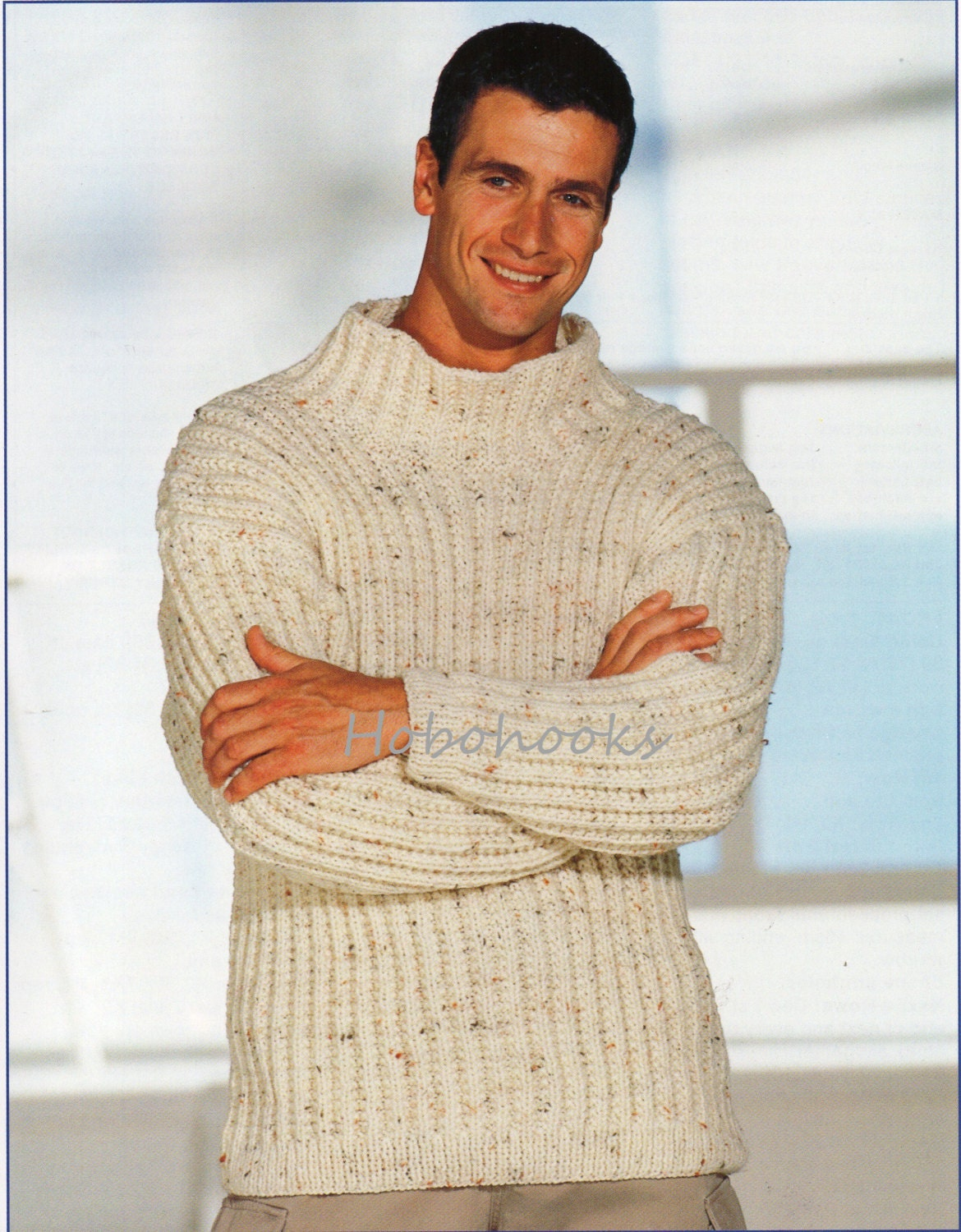 Mens Jumper Knitting Pattern : Mens Knitting Pattern Mens Chunky Ribbed Sweater Mens