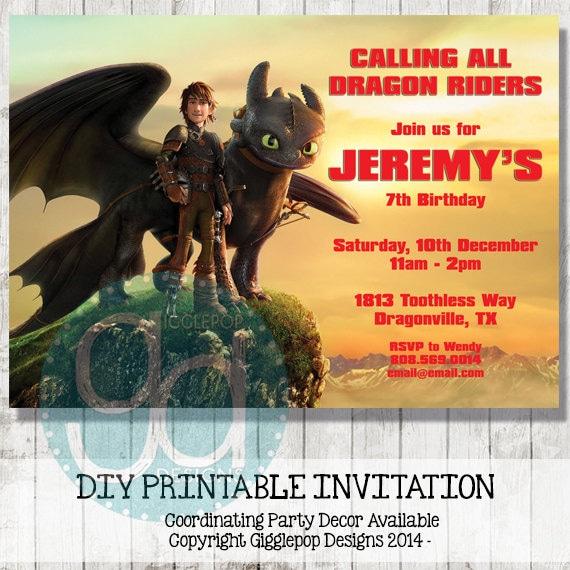 how to train your dragon birthday invitations printable edit pdf