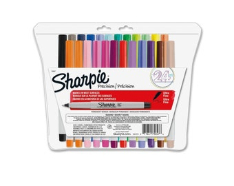 Color Sharpie Ultra-Fine-Point Permanent Markers, 24 Pack Colored Markers; Drawing, Packing and Shipping, Sharpie Arts Crafts