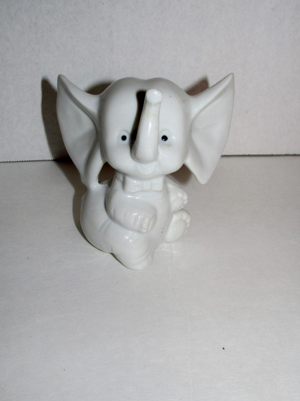 Vintage Edsin Elephant Figurine White Elephant Japan