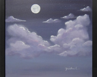 Violet Night - Acrylic on Canvas