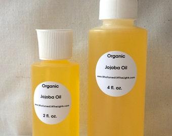 Organic Jojoba Oil (8 oz) - Golden, Unrefined, Cold Pressed