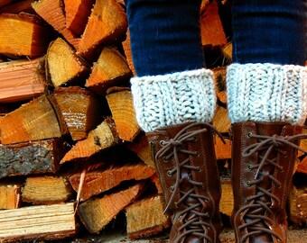 Women's Boot Sock, Boot Cuffs, Chunky Boot Cuffs, Boot Toppers, Leg Warmers, Boot Warmers / Bull Run / Wheat