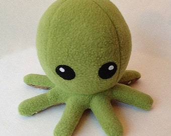 Cuddly Fleece Octopus Plush - Lime