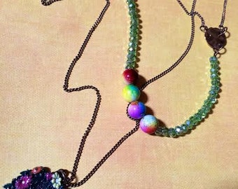 Fairy Door Whimsical Long Necklace