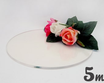 5mm Clear Round Cake Board