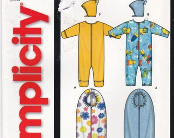 Uncut Simplicity Sewing Pattern 5852 Baby Romper, Hat & Bunting Sizes XXSmall - Large