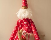 Santa Claus fabric doll Christmas tilda doll Christmas gift Father Frost doll gift decor handmade