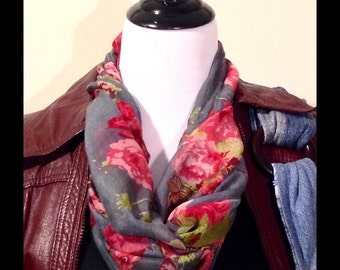 Coming Up Roses Infinity Scarf