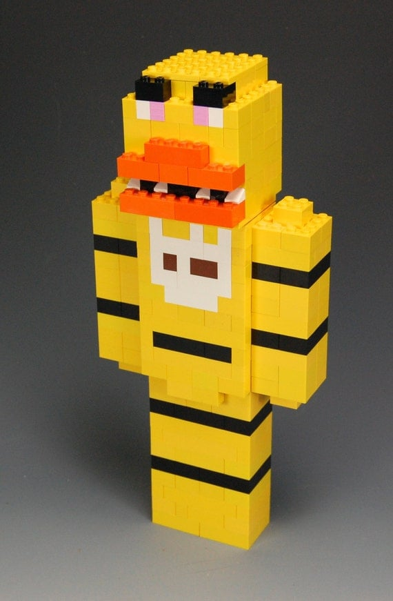 Lego 5 Nights At Freddy S Toys : Lego custom chica five nights at freddy s