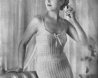 Vintage 1951 Knitting Pattern Ladies Corselette Under-garment - digital download