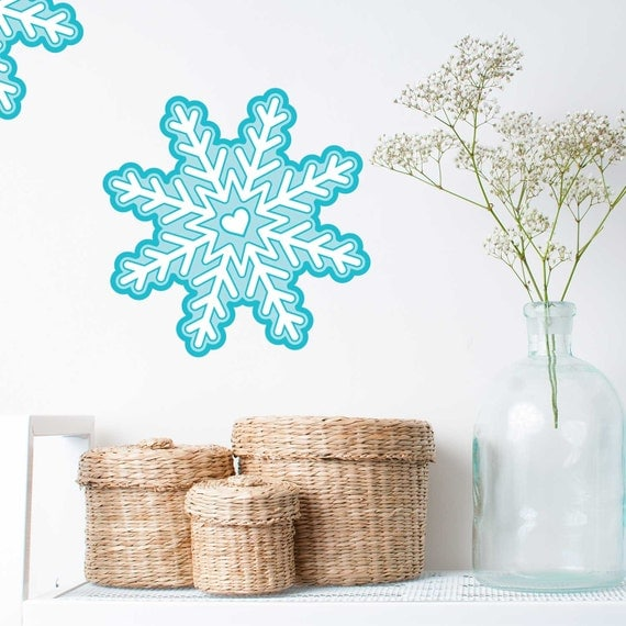 Snowflake Snowflakes Diy Christmas Snowflake Decal 22358 Vinyl Wall .