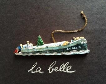 Handmade Péniche Ornament