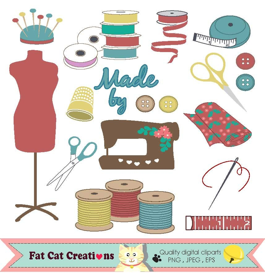 I love sewing dressmaking sewing craft supplies clip art for Sewing and craft supplies
