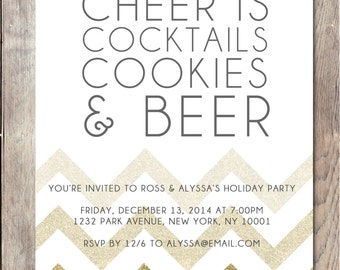 Holiday Party Invitation, Holiday Party, Holiday Cheer, Christmas Party Invitation, Printable Holiday Party Invitation, Holiday Cheer Invite