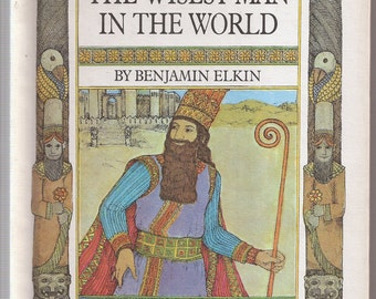 1960s Childrens Book Vintage Old Kids Books The Wisest Man in the World by Benjamin Elkin 1968 Parents Magazine