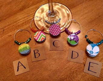 Set of 6 Cork Wine Charms