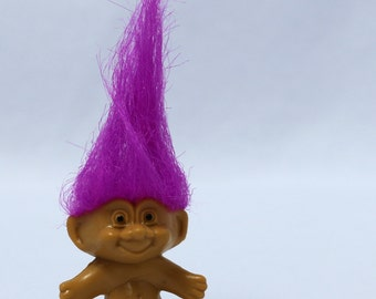 Vintage Russ Troll Doll Key Chain pink hair new old stock