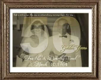 50th Wedding Anniversary Gift - Wedding Anniversary Gift - 50th Anniversary Ideas - Golden Anniversary - Gift - 50th wedding
