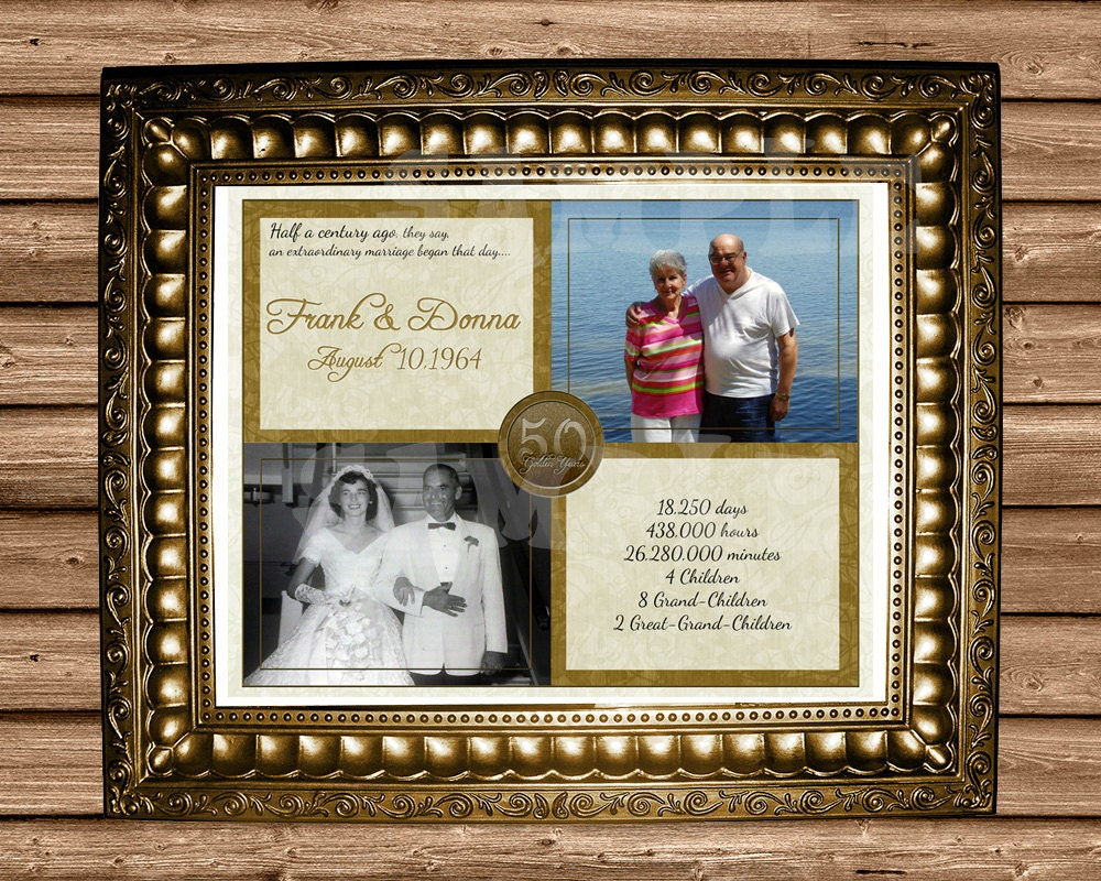 Gifts For Fiftieth Wedding Anniversary: 50th Anniversary Gift Gold 50th Wedding Anniversary
