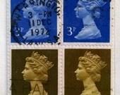 1967 Queen Elizabeth II British Stamp Bookmark