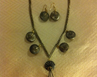 Pewter Donuts Necklace