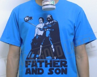 t shirt star wars dark vador et luke skywalker p re et fils. Black Bedroom Furniture Sets. Home Design Ideas