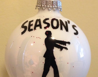 The walking dead zombie personalized Christmas ornament