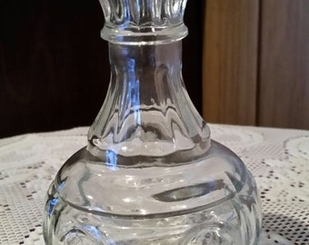 Vintage Clear Glass Bud Vase