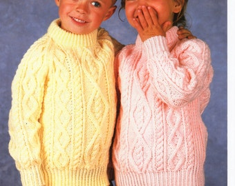 Aran Childrens Knitting Patterns : baby aran jacket cap mittens knitting pattern pdf baby aran